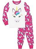 Harry Bear Pijamas de Manga Larga para niñas Unicornio Ajuste Ceñido 7-8 Años