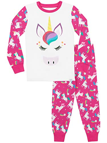 Harry Bear Pijamas Manga Larga niñas Unicornio Ajuste