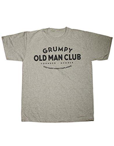 Sherbet Dip Grumpy Old Man Club T Shirt. Alle Größen Grau - Grau