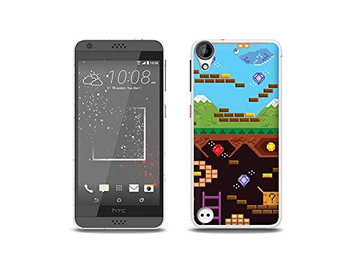 etuo Handyhülle für HTC Desire 530 - Hülle, Silikon, Gummi Schutzhülle - Oldschool Spiel
