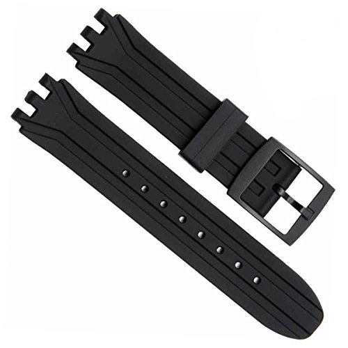 greenolive-18mm-replacement-waterproof-silicone-rubber-watch-strap-watch-band-black
