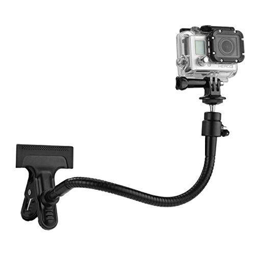 Fije su GoPro de forma segura para un sin fin de disparos  Posiciones para CamKix Doble Funcion de Montaje de abrazadera para GoPro Hero es super fuerte, pero super flexible, que permite a los usuarios concectar de forma segura su camara de accion pa...