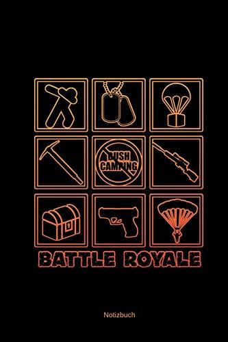 Notizbuch Battle Royale: A5 Kariert | Gamer Zocker Geschenke | Videospiel Liebhaber Notizblock & Journal | Gaming Esports