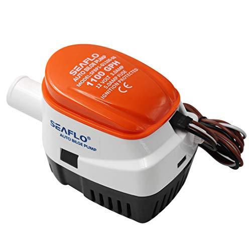 B Blesiya Pompa di Sentina SEAFLO 1100 GPH con Interruttore A Galleggiante Incorporato - 12V Automatico