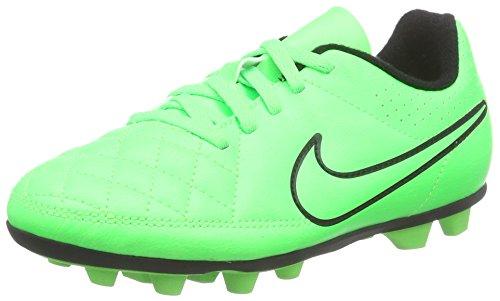 Nike Tiempo Rio Ii Fg-r, Scarpe da Calcio Bambino Verde (Grün (Green Strike/Green Strike/Black/Black))