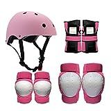 Helm Protektoren, Kinder Erwachsene Eislaufen Schutzausrüstung Helm Skating Skating Rollschuhe Schutzausrüstung Roller Reiten Knieschützer