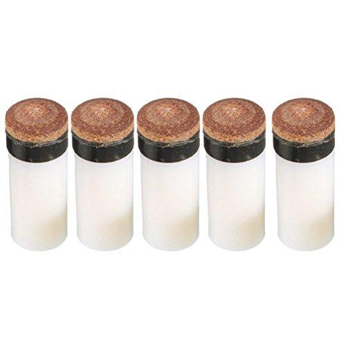 NewShot 11mm Schraubleder für Billard-, Pool-Queue-Koffer für 2, 5Stück