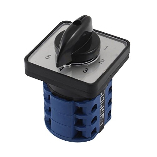 ZCHXD Ui 660V Ith 12A Six Position Universal Rotary Cam Changeover Switch 12 Position Rotary Switch
