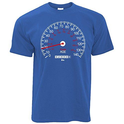 Tim And Ted Autos Herren T-Shirt Speedometer 18. Geburtstag Auto-Weinlese Race Track Racer Geschwindigkeit (Motor Geschwindigkeit 1)