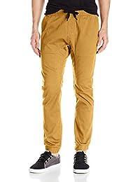 Southpole Men's Basic Stretch Twill Jogger Pants