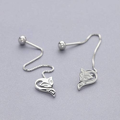 Good dress Sterling Silber Schmuck Weibliche S925 Silber Ohrringe Wild Fox Sens Ohrringe, Weiß, Wie Gezeigt
