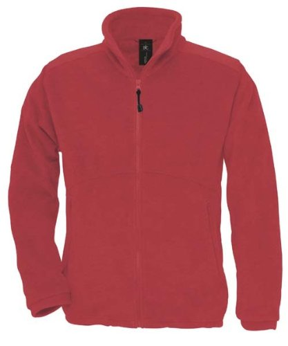 B&C Unisex Icewalker Fleecejacke Jacke Fleece bis 3XL Red