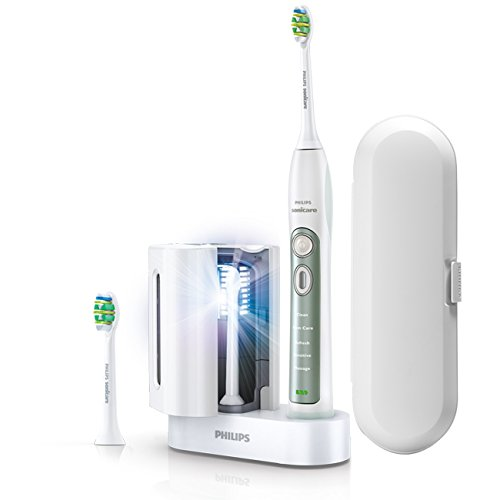 Philips Sonicare FlexCare+ elektrische Zahnbürste plus UV HX6972/03 Wiederaufladbare Schallzahnbürste, Reiseetui, 2 InterCare Bürstenköpfe