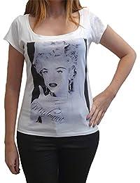Madonna D, tee shirt femme, imprimé célébrité,Blanc, t shirt femme,cadeau