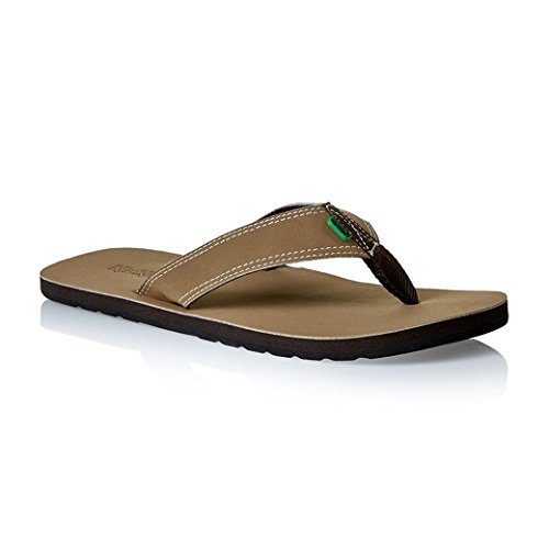 Kickers Kick Back Summer Indoor Beach Flip Flop Slipper (Brown, Large, 9-10...