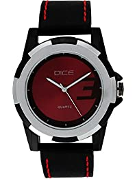 Dice Duplex 4607 Casual Round Shaped Dual Metal, Two Tone Wrist Watch for Men.