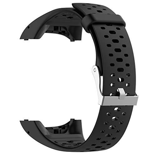 Bracelet pour Polar M400 M430 20 mm Smartwatch Accessoires Silicone Bracelet de Montre Bracelet de Remplacement Smartwatch pour Hommes Femmes 10x5x5cm Noir