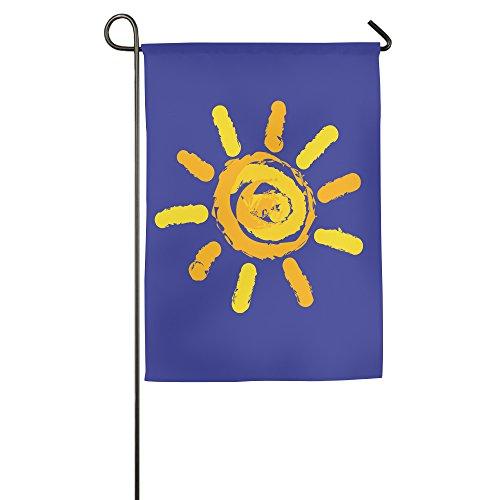 Shining Sun House Flaggen, dekorative Flaggen, Outdoor Flaggen, Hof Flagge, Home Flagge, weiß, 30*46 cm