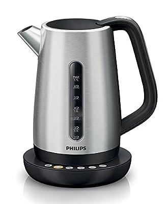 Philips HD9385/21Bouilloire 1,7L, 5réglages de température 40–100°C, en acier inoxydable
