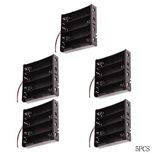everpert 5pcs plástico caja de la batería Soporte Caja de almacenaje para 18650batería recargable