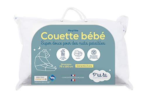 P'TIT LIT - Couette Bébé | Enfant - 75x120 cm - Anti Acariens - Idéal pour lit 60x120 cm - 100% Microfibre - Oeko Tex- Conception Française