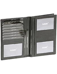 Portefeuille LEAS , cuir véritable, noir - ''LEAS Special Edition''