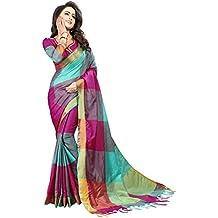 Perfectblue Women's cotton Silk Saree With Blouse Piece (ZikkattVariation)