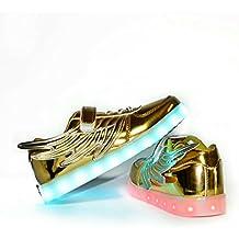 Envio 24 Horas Usay like Zapatillas LED Con 7 Colores Luces Carga USB Dorado Ninos Niñas Unisex Unisex Talla 25 hasta 35 Envio Desde España