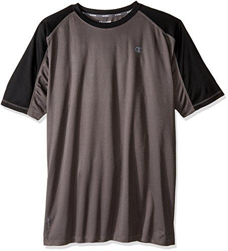 Champion's Männer grossen und hohen Performance Raglan T-Shirt, Stealth/Schwarz, 2 X (Und Groß Hoch T-shirt Performance)