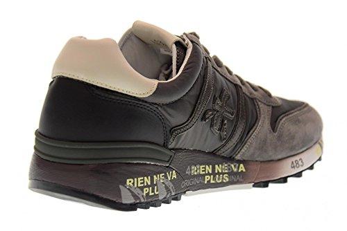 PREMIATA scarpe uomo sneakers basse LANDER 2481 GRIGIO Grigio