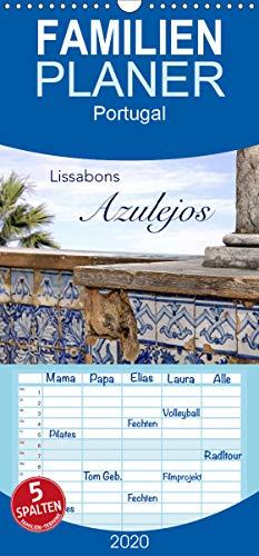 Lissabons Azulejos - Familienplaner hoch (Wandkalender 2020, 21 cm x 45 cm, hoch)