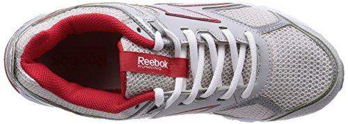 Reebok - Pheehan Run 3.0, - Unisex – Adulto Grigio/Rosso/Bianco