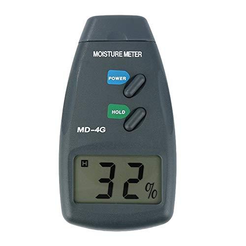 Digital Holzfeuchtigkeitsmesser Feuchtemessgerät Damp Detector Tester Holzfeuchtigkeitsmesser 4 Pin...