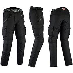Pantalones de motorista con protector - Impermeables - Negro - Todas las tallas - W42 L32