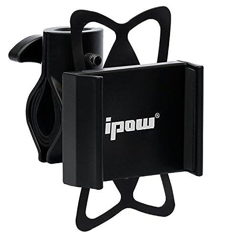 Ipow® Universal Fahrrad Handyhalterung mit Metall Sockel Handy Halterung Halter, Stabile Fahrradhalterung für Smartphone wie iPhone 7 / 6 Plus / 6 / 5s / 5 & Samsung Galaxy S7 / S6 Edge / S6 / S5 / S4 / S4 Mini / Note 3 / Note 4 / Note Edge usw.