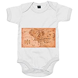 Body bebé El Señor de los Anillos mapa Tierra Media