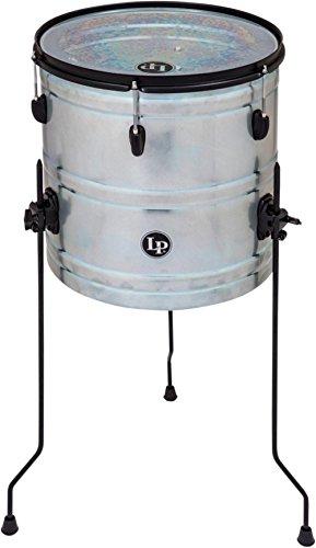 "LP Latin Percussion Street Can Drum RAW Series Steel/Black Powder 16"" x 14"", Stahlkessel, höhenverstellbar, doppellagiges Fell, stimmbar, LP1616, Floortom, Marchingdrum, Trommel"