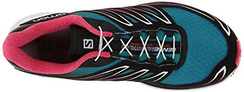 Salomon Sense Manatra 3, Chaussures de Trail Femme turquoise (Peacock Blue/White/Hot Pink)