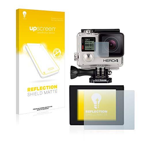 upscreen Entspiegelungs-Schutzfolie kompatibel mit GoPro Hero4 Silver - Anti-Reflex Displayschutz-Folie Matt