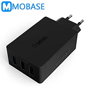 MU [Qualcomm Certified officiel] Tronsmart TS-WC3PC 3 ports charge rapide 2.0 VoltIQ chargeur mural pour Samsung Galaxy S6 LG G4 Xiaomi