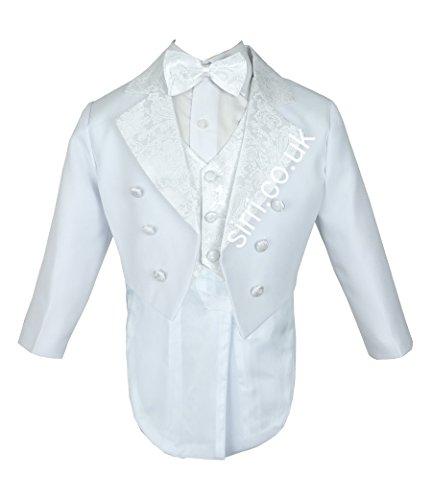 Jungen 5 Stück Tuxedo Anzug, Taufe, Hochzeit Anzug Tuxedo für Baby und Jungen Smoking - Tuxedo-anzug