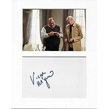 Buenas noches corazones–Ron Wheatcroft–Victor McGuire mano original y auténtico firmado autógrafo AFTAL COA