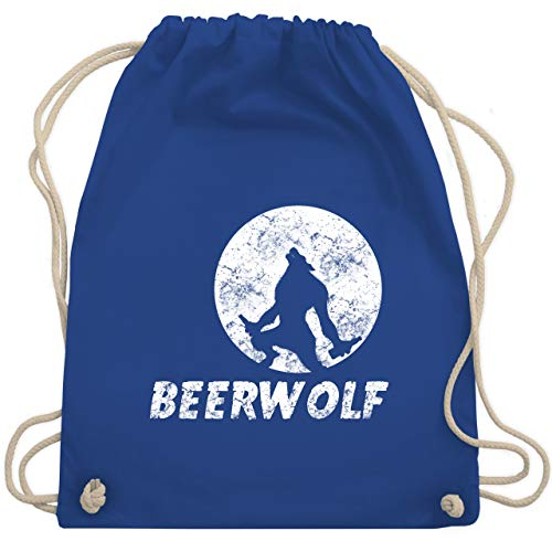 Statement Shirts - Beerwolf - Unisize - Royalblau - WM110 - Turnbeutel & Gym Bag