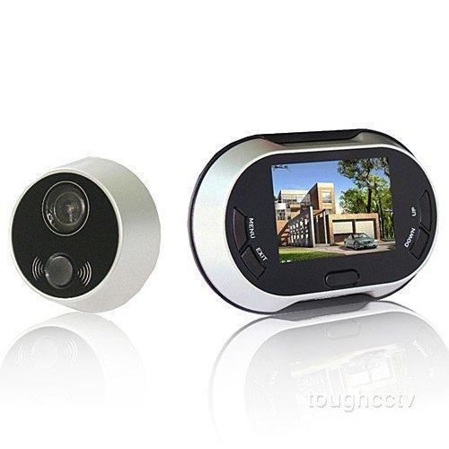 Spioncino digitale con funzione di fotocamera, videocamera e campanello elettronico, angolo di visione di 120°, videocamera DVR con ampio display da 3,5