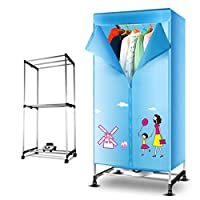 Household Dryer Double-layer Large Capacity Stainless Steel Dry Hanger, 900W Warm Air Dry Wardrobe (Color : Standard version)