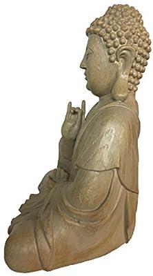 """Buddha Figur Statue Holzoptik """"Gütestellung"""" von G. Wurm bei Du und dein Garten"""