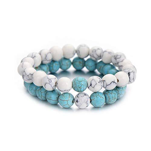 Naturstein Perlen Armband Set Pack Für Männer Frauen Schmuck Mode Paar Abstand Armbänder Heißer ()