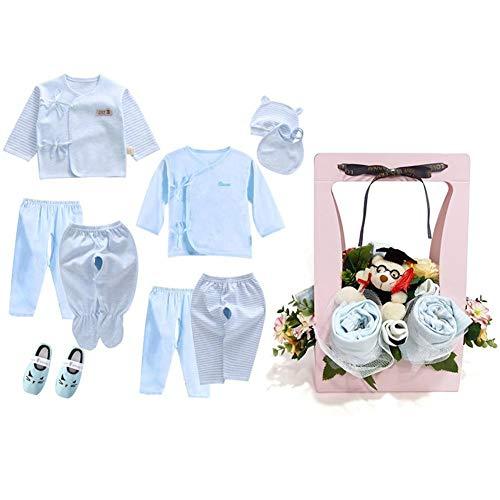 Blossom Socken (Baby Kleidung Anzug Neue Baby Blossom Kleidung Bouquet Neugeborenen Geschenk Set Frühling Und Sommer Kleidung Top Speichel Handtuch Socken Baby Anzug Set Für 0-6 Monate)