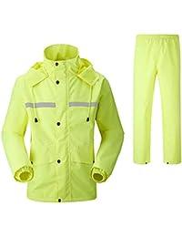 07fd6f9420 Geyao Impermeable Pantalones de Lluvia Conjunto de Doble Capa de Adultos y  Hombres de Moda al Aire Libre de la Motocicleta del Coche…