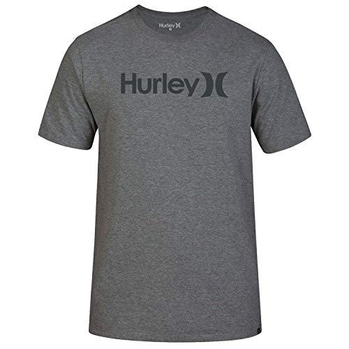 Hurley - Camiseta para hombre, Gris, S, M One&Only Solid Tee